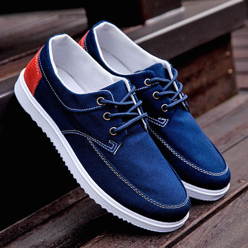 Men Canvas Sports Shoes Casual Sneakers Driving Breathable Sneakers