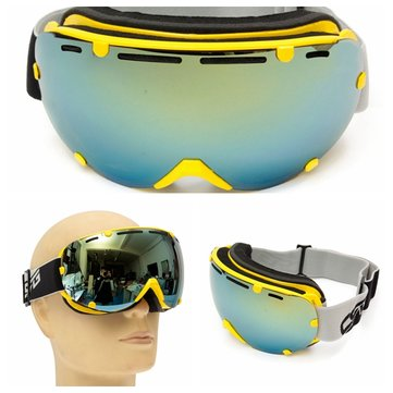 Unisex Anti-fog UV Dual Lens Winter Racing Outdoor Snowboard Ski Goggles Sunglasses CRG101-4