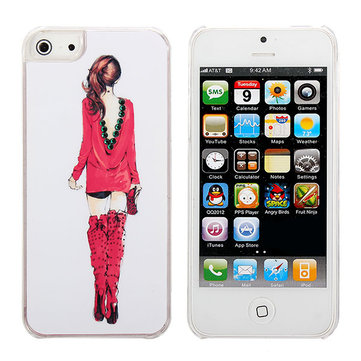Bling Crystal Charming Back Shadow Plastic Hard Back Case For iPhone 5