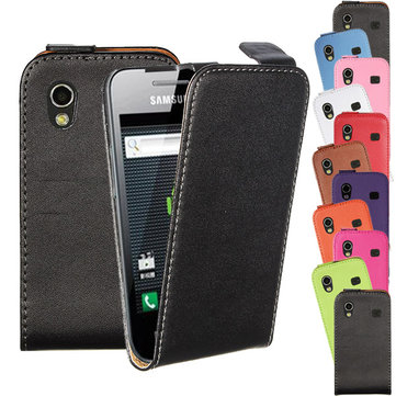 Vertical Leather Flip Magnetic Case For Samsung Galaxy Ace S5830