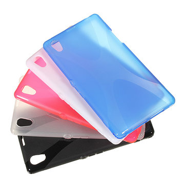 X-line Soft Gel TPU Silicone Back Case For Sony Xperia Z1 L39H