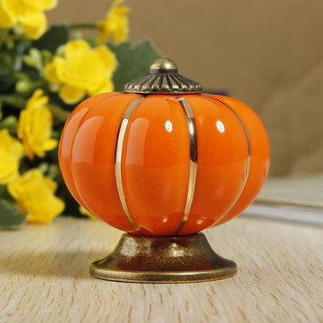 Ceramic Pumpkins Door Drawer Cupboard Pull