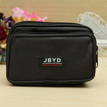 Mens Canvas PU Leather Clutch Bags Zipper Design Wallets