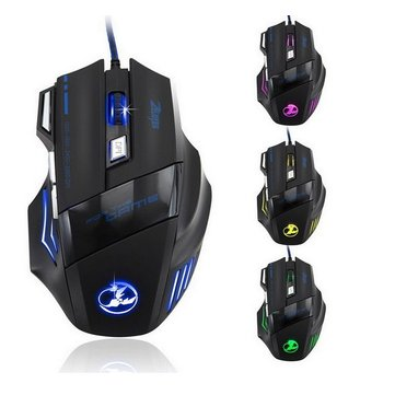 3200 DPI 7 Button LED Optical USB Wired Gaming Mouse