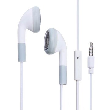 White Earphone Headphone Headset With Mic Microphone For iPhone 4