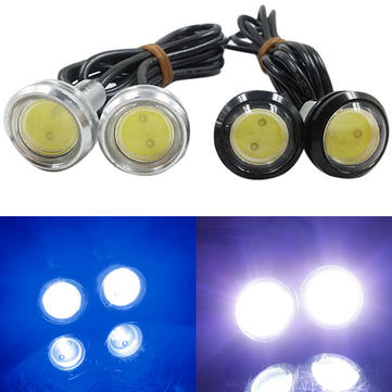 12V 3W Eagle Eye LED Daytime Running Lights for All Cars High Bright Waterproof