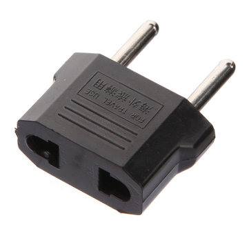 Flat to Round Plug Adapter Converter