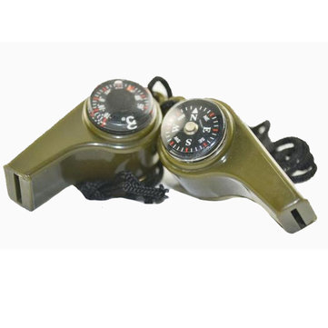 Outdoor Survival Tool Triad Whistle Compass