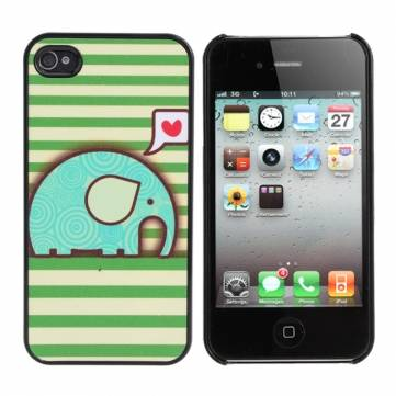 Lovely Cute Cartoon Elephant Pattern Back Case For iPhone 4 4S