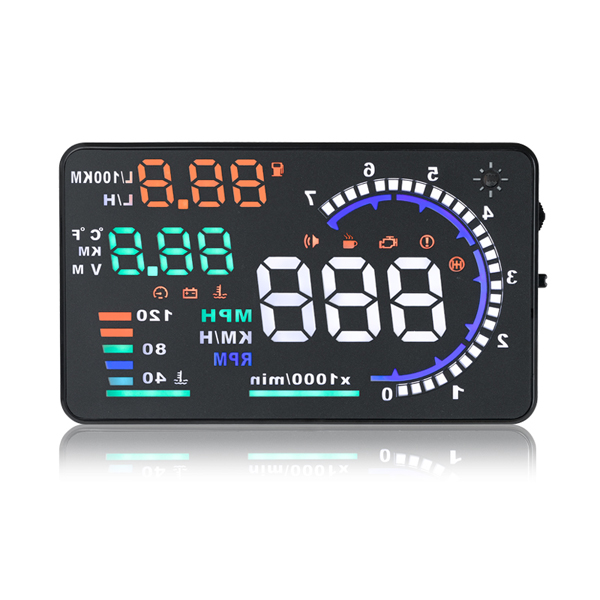 A8 5.5inch Car HUD Head Up Display with OBD2 Interface