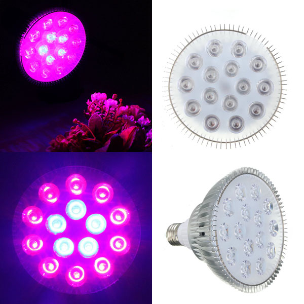 45W E27 Red + Blue LED Plant Grow Light Lamp Flower Hyd
