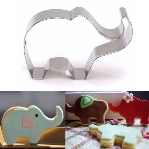 Stainless Steel Elephant Animal Cookie Cutter Cake Bisc