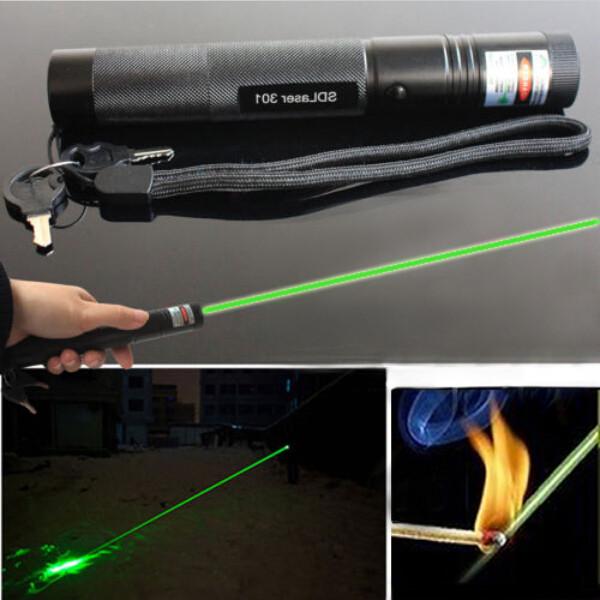 G301 Focus Burn 532nm Green Laser Pointer Pen Lazer Vis