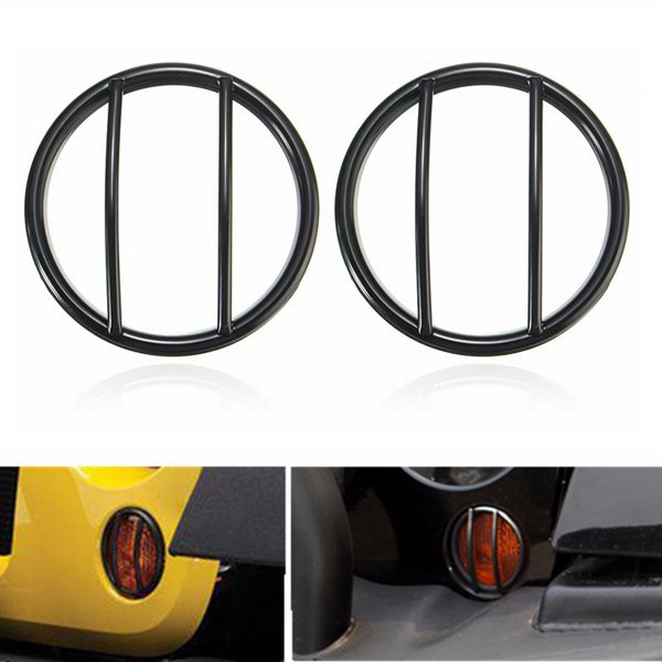 2pcs Turn Signal Light Cover GrillE-mounted For Jeep Wr