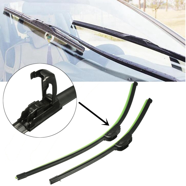 Pair 24 inch 19 inch Universal J-Hook Car Window Wind S