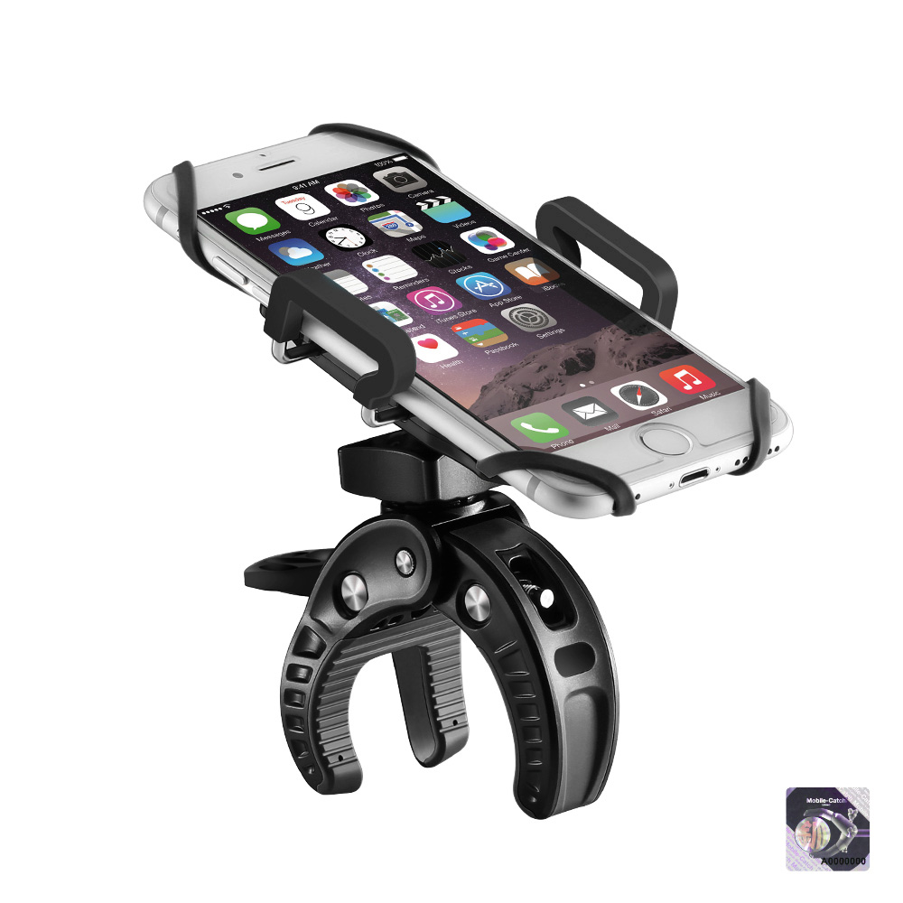 BlitzWolf� BW-MH2 Heavy Duty Bike Phone Mount Holder with Tight Rubber Band & 360 degree Rotate