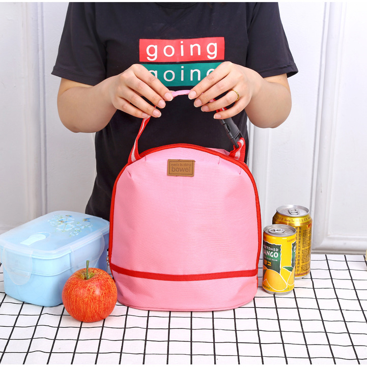 Thicked Lunch Tote Bag Keep Fresh Cooler Bag Handheld B