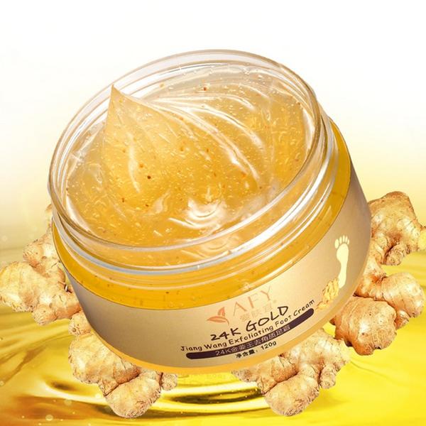 AFY 24K Essence Gold Ginger Exfoliate Foot Cream Feet H