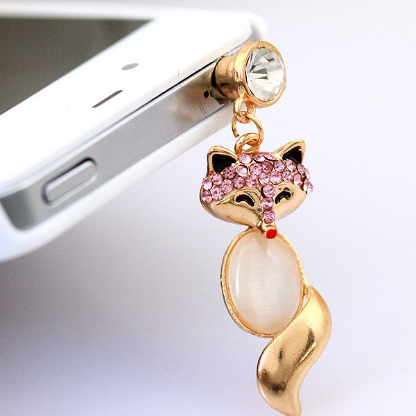 Cute Fox Dustproof Plug Cover For 3.5 mm Earphone Headp