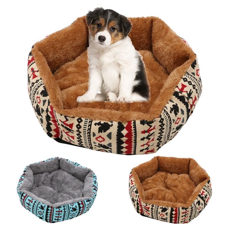 48cm Pet Dog Cat Bed Soft Cushion Winter Warm Kennel Ma