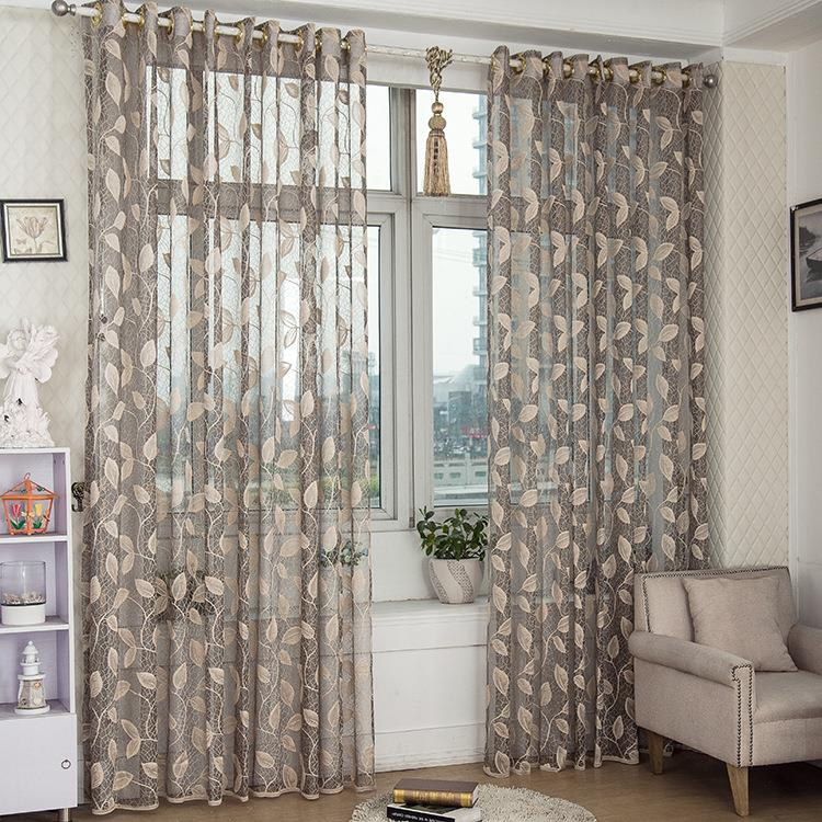 2 Panel Breathable Half Black-out Voile Sheer Curtains