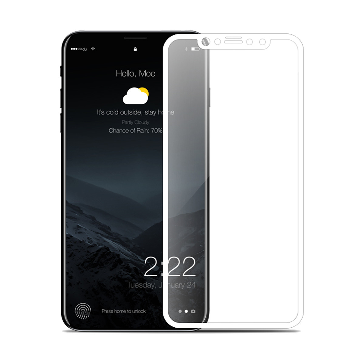 0.25mm 3D Soft Arc Edge 9H Tempered Glass Film For iPho