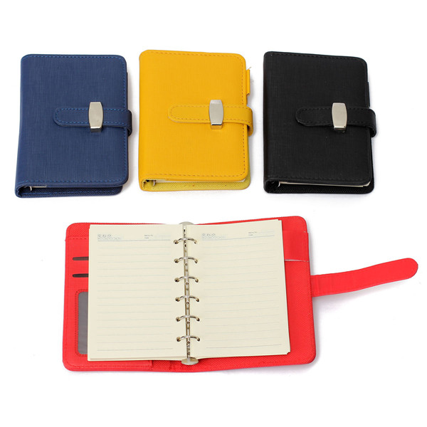 A7 Pocket PU Leather Cover Notebook Diary Filofax Perso