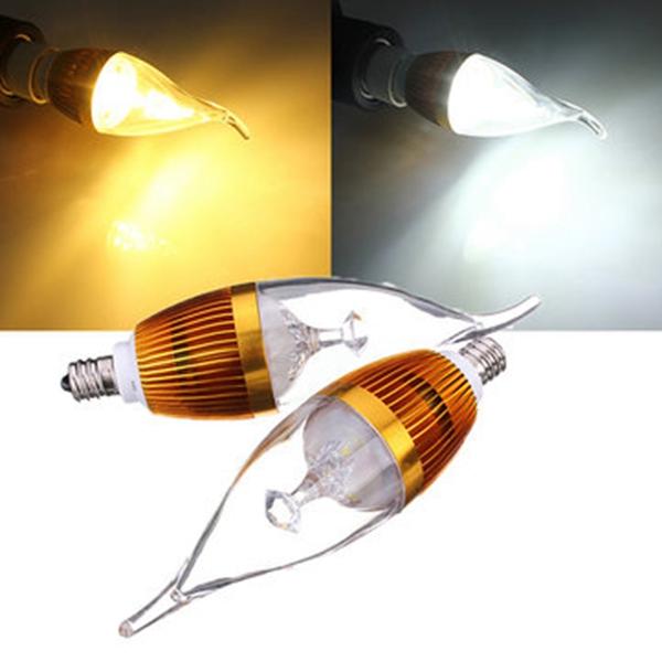 E12 4.5W 800-850lm White/Warm White 3LED Candle Light B