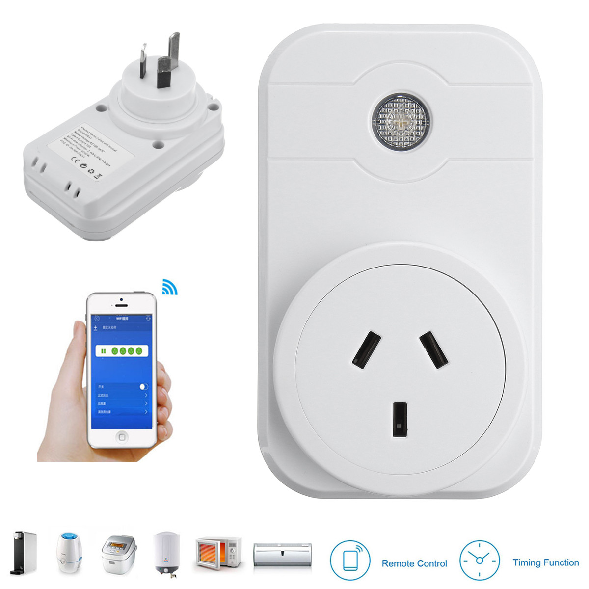 SW3 Wireless WIFI Socket Android/iOS Phone Remote Contr