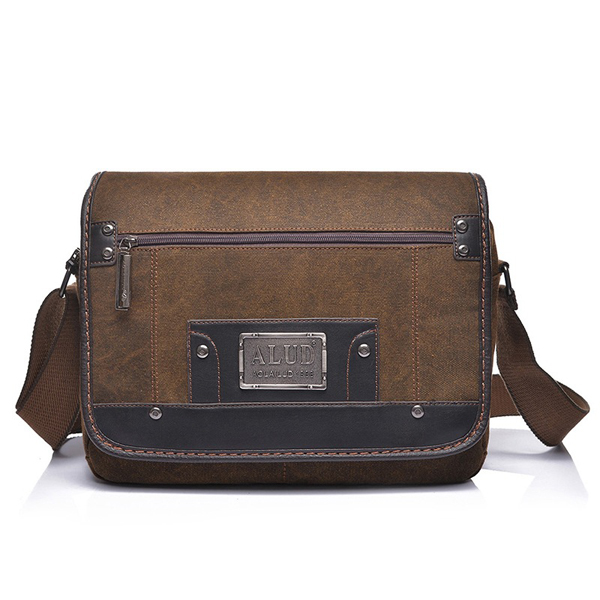 Men Retro Canvas Bag Durable Crossbody Shoulder Bag Casual Messenger Bag