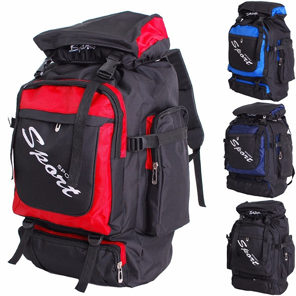 60L Large Anti-tear Backpack Outdoor Hiking Camping Travel Luggage Rucksack Bag