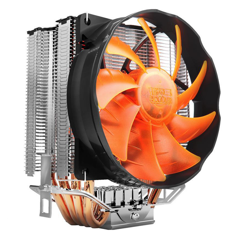 Pccooler S90F 4 Pin 4 Copper Heat Pipes LED CPU Cooler