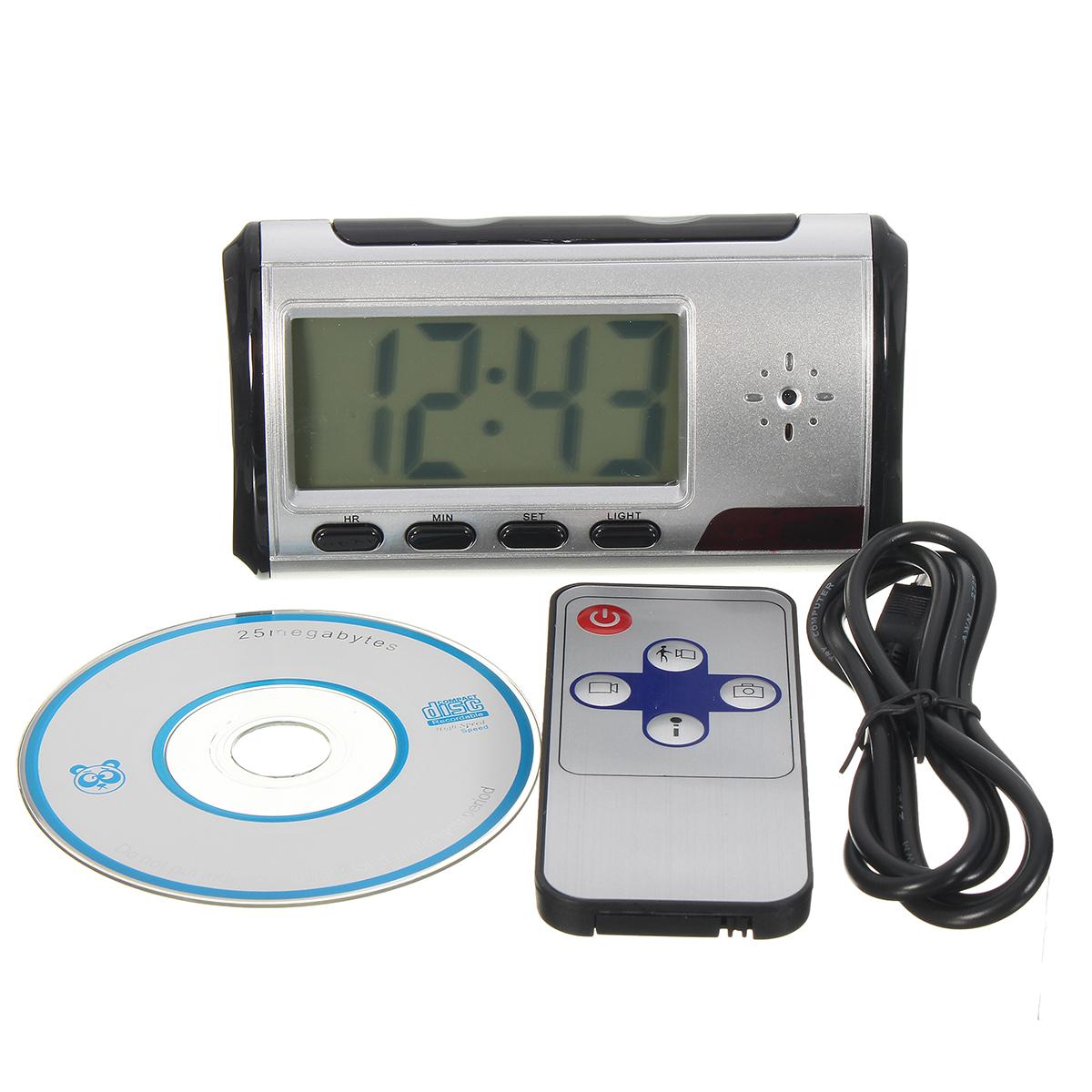 Hidden Camera Alarm Clock Micro Nanny Cam Motion Detect