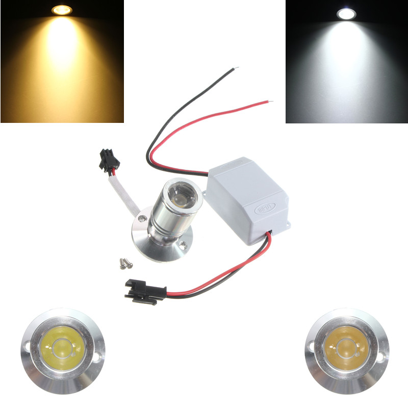 DC12V 1W Mini LED Warm/White Jewelry Light Cabinet Lamp Ceiling Spotlight