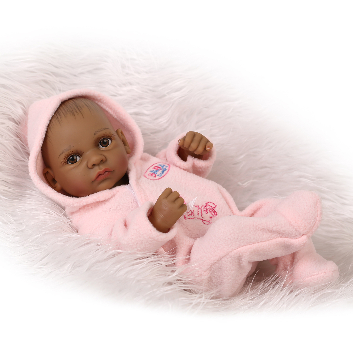 11inch African Reborn Baby Doll Silicone Lifelike Baby