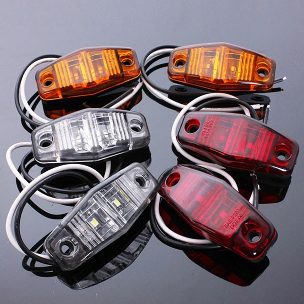 12V Side Marker LED Lights Indicator Lamps for Car Truc