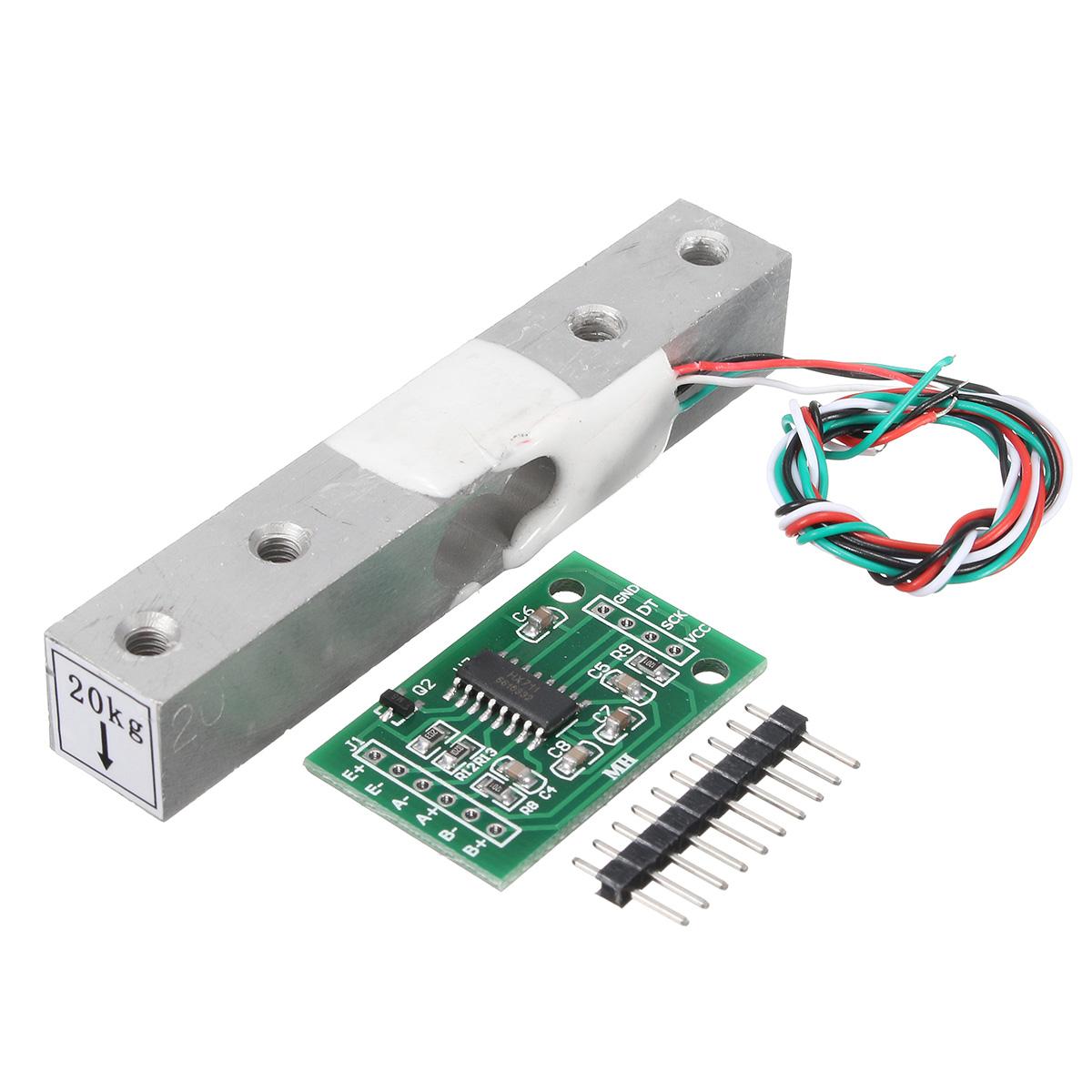 HX711 Module + 20kg Aluminum Alloy Scale Weighing Senso
