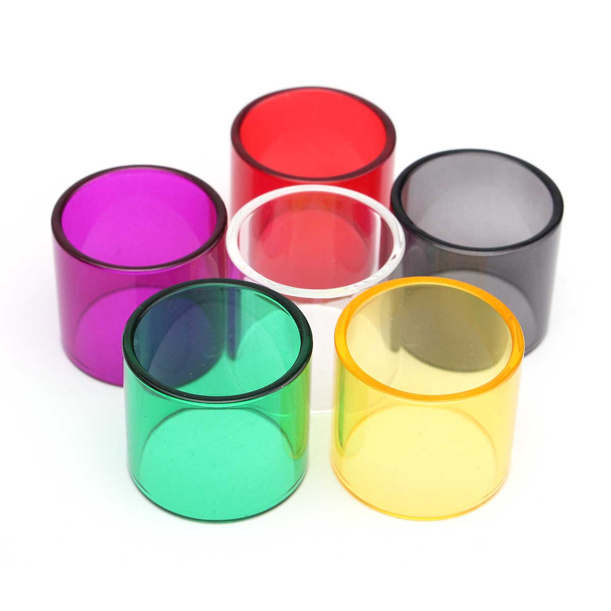Colored Replacement Transparent Pyrex Glass Tube Cap fo