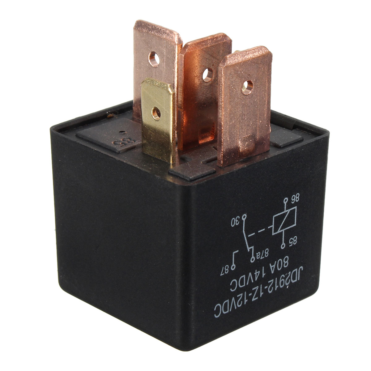 5-Pin 80A 12V Red Copper SPDT Relay for Car Vehicle Tru