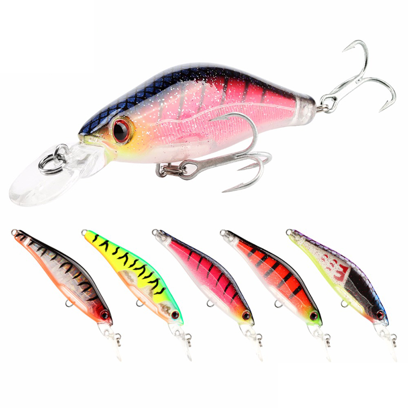 SeaKnight SK043 5PCS 6.5g 65mm Fishing Lure 0-1.2M Susp