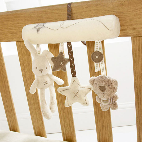 Baby Kids Hanging Bed Stroller Rattle Soft Plush Rabbit