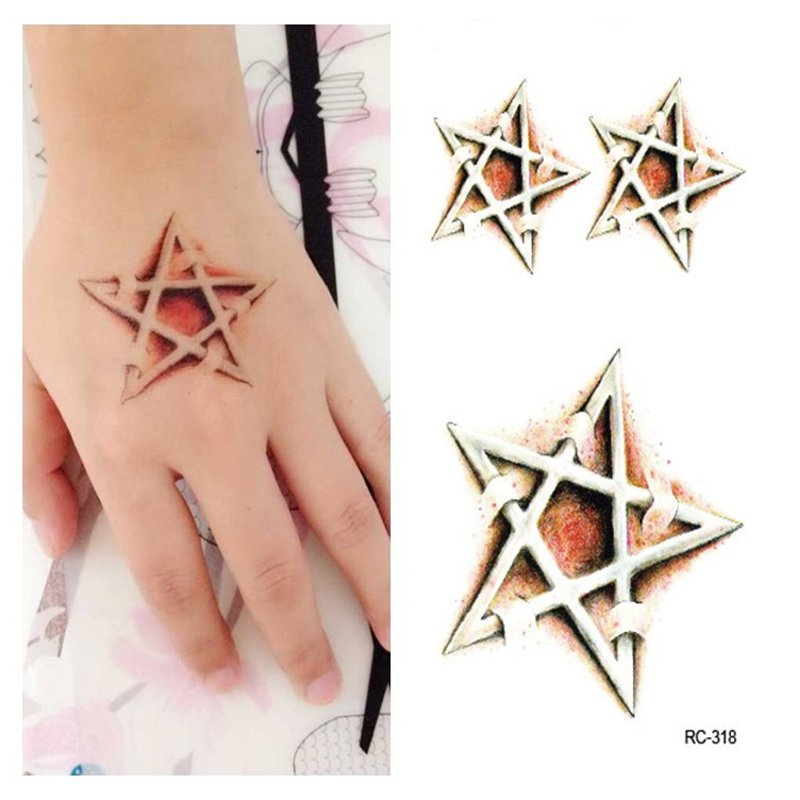 10Pcs Halloween Tattoo Stickers Make Up Mysterious Five