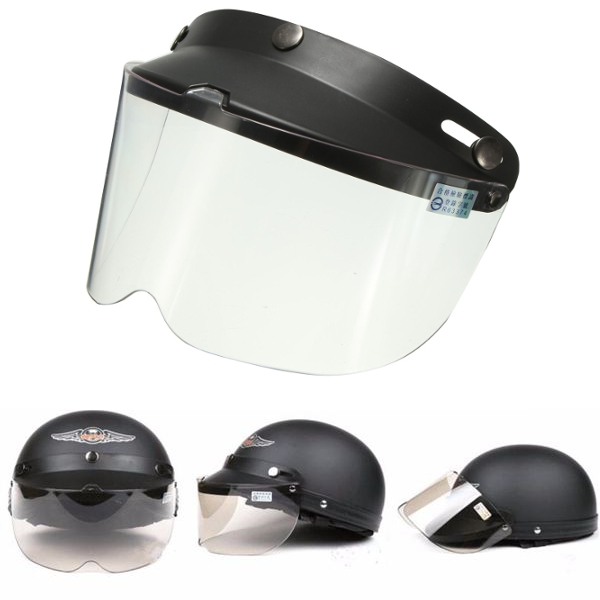 Universal Motorcycle Helmet Flip Up Visor Model Transpa