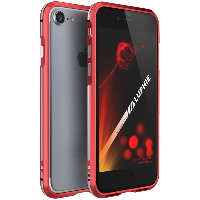 Luphie Metal Frame Bumper Anti Knock Case For iPhone 7/