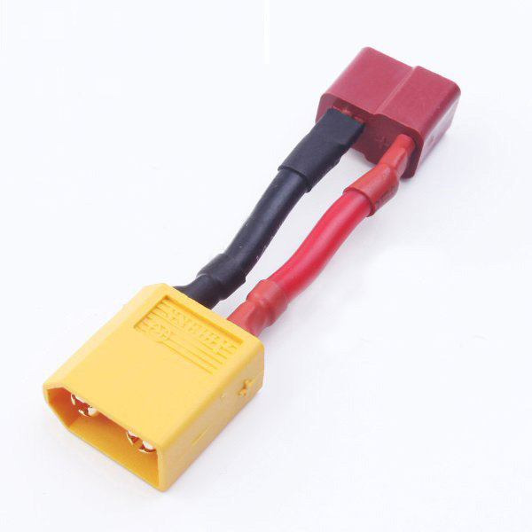 Amass XT60 Male To T Plug Female Battery Adapter Cable 14AWG 3cm