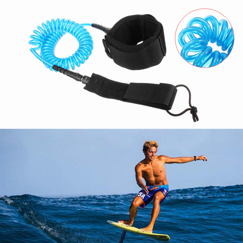 IPRee 10ft 7mm Coiled Surfboard Leash Surfing Stand UP