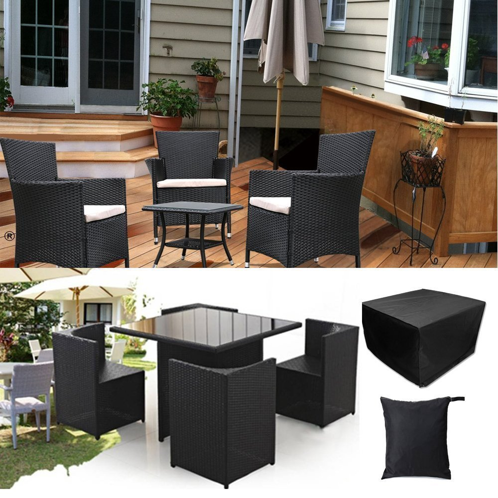 Garden Patio Rectangular Table Chairs Protective Cover