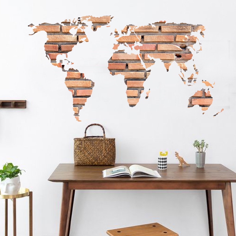 DIY Removable Wall Sticker Art World Map Mural Decal R