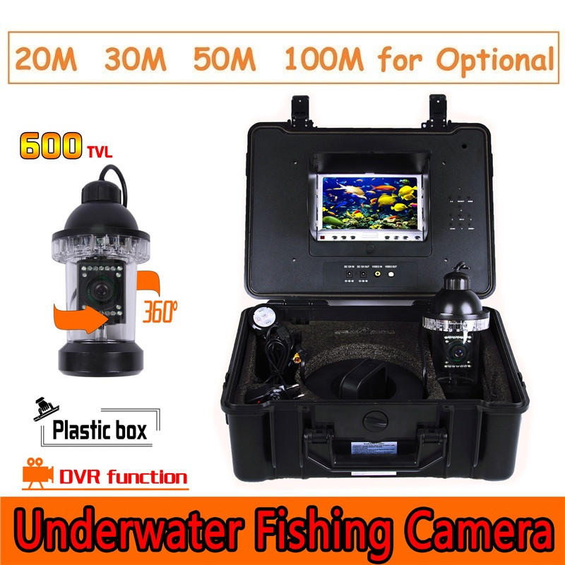 CR110-7B Waterproof Underwater Video Camera System with Light Fishing Monitoring 700TVL Built in DVR