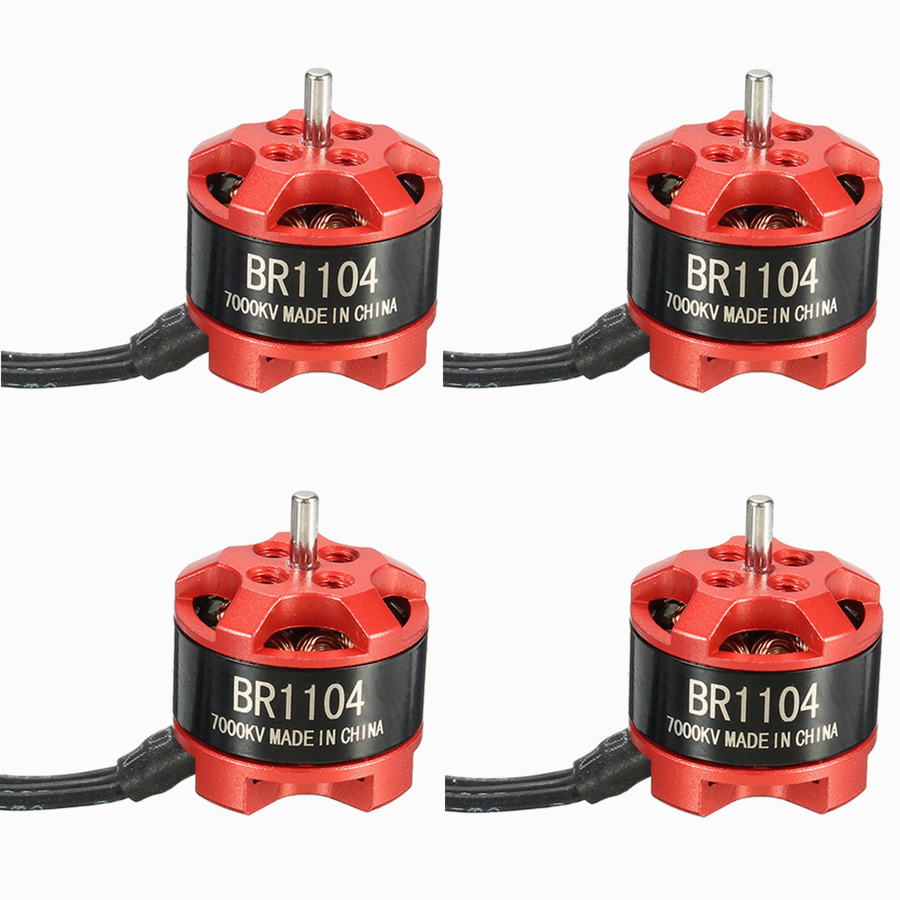4 X Racerstar Racing Edition 1104 BR1104 7000KV 1-2S Brushless Motor for 100 120 150 RC Multirotor